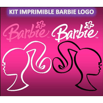 Kit Imprimible Barbie Logo