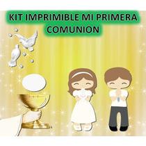 Kit Imprimible Mi Primera Comunion
