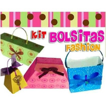 Kit Imprimible Bolsitas Fashion Para Souvenir Invitacion 2x1