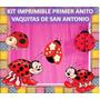 Kit Imprimible Primer Anito Vaquitas De San Antonio