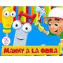 Kit Imprimible Many A La Obra Tarjetas Banderines Candy 2x1!