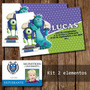 Tarjeta Invitacion Imprimible Monster University Fiesta