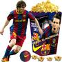 Kit Imprimible Barcelona Messi Cumples, Tarjetas Futbol 2x1