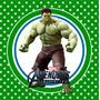 Kit Imprimible Increible Hulk Avengers Candy Bar Deco Invita
