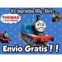 Kit Imprimible Thomas El Tren Y Sus Amigos Diseñá Tarjetas,+