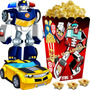 Kit Imprimible Transformers Rescue Bots Cumple Cotillon 2x1