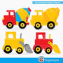 Kit Imprimible Construccion Camiones Imagenes Clipart