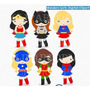Kit Imprimible Superchicas Nenas Imagenes Clipart