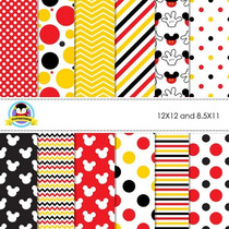 Kit Imprimible Pack Fondos Mickey Mouse Clipart