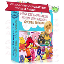 Kit Imprimible Empresarial Golden Envios A Domicilio Gratis!