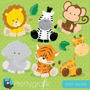 Kit Imprimible Animalitos Bebes 4 Imagenes Clipart