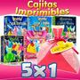 Kit Imprimiblecajitas Princesas Principes Haditas 3x1