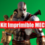 Kit Imprimible God Of War Tarjeta Invitacion Candy 2015 2x1