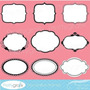 Kit Imprimible Pack Frames Etiquetas Label 6 Clipart