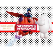 Kit Imprimible Mas Candy Bar, Invitaciones Grandes Heroes!!!