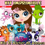 Kit Imprimible Littlest Pet Shop Invitaciones Cumples 2x1