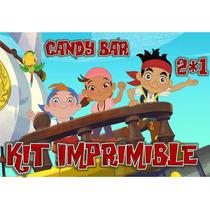 Kit Imprimible Premium Jake Y Los Piratas Candybar Golosinas