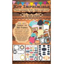 Kit Imprimible Pack!! Marcos, Frames, Fondos Vintage Y Mas!!