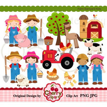 Kit Imprimible Granja 10 Animalitos Imagenes Clipart
