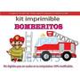 Kit Imprimible Bomberos Bomberitos Candy Bar Tarjetas Cumple