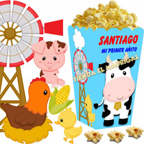 Kit Imprimible Animalitos De Granja Cotillon Y Candy Bar 2x1