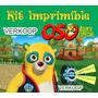Kit Imprimible Oso Agente Especial Invitaciones Tarjetas Ar