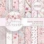 Kit Imprimible Cherry Blossom 14 Fondos *promo*