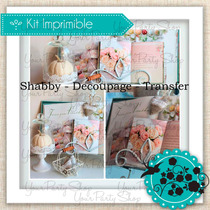 Kit Imprimible Decoupage Scrapbook Vintage + Tecnicas Nuevo