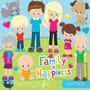 Kit Imprimible Familia 2 Imagenes Clipart