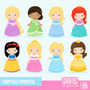 Kit Imprimible Princesas Disney 23 Imagenes Clipart