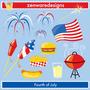 Kit Imprimible Estados Unidos 4 Imagenes Clipart