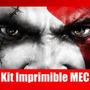 Kit Imprimible God Of War Tarjeta Invitacion Candy 2015 2x1