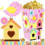 Kit Imprimible Pajaritos Nena Cotillon Y Candy Bar 2x1