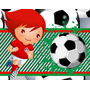 Kit Imprimible Futbol Diseñá Tarjetas , Cumples Y Mas