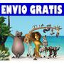 Kit Imprimible Madagascar Tarjetas Cumples Golosinas