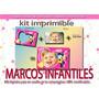 Mega Kit Imprimible Marcos Infantiles Tarjetas Cumple Y Mas