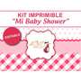 Kit Imprimible Mi Baby Shower Para Nena, Candybar, Golosinas