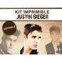 Kit Imprimible Justin Bieber Editable, Golosinas, Candybar