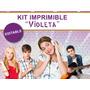Kit Imprimible Violetta Personalizado, Diseño Para Golosina