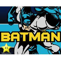 Kit Imprimible Batman Diseñá Tarjetas, Cumples Y Mas