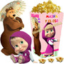 Kit Imprimible Masha Y El Oso Candy Bar Cumple Golosinas 2x1