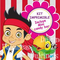 Super Kit Imprimible Jake Y Los Piratas Textos Editables