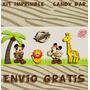 Kit Imprimible Candy Bar Mickey Safari + 1200 Fuentes Regalo