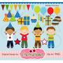 Kit Imprimible Feliz Cumple Tortas 2 Imagenes Clipart