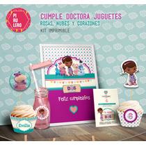 Kit Imprimible Doctora Juguetes Cielo Y Corazones