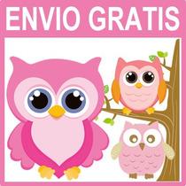 Kit Imprimible Lechuzas Buhos Candy Bar Cumple Invitaciones