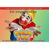 Kit Imprimible Candy Piñon Fijo Tarjetas Cumple Y Mas 2 X 1