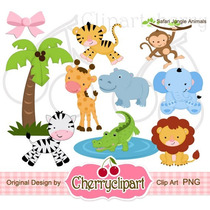 Kit Imprimible Animalitos De La Selva 18 Imagenes Clipart