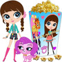 Kit Imprimible Littlest Pet Shop Candy Bar Y Cotillon 2x1