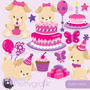 Kit Imprimible Puppy Party 15 Png - Jpg Clipart